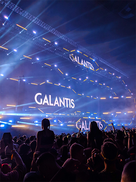 a view of the stage for the Galantis set at Contact Music Festival in Vancouver in 2018