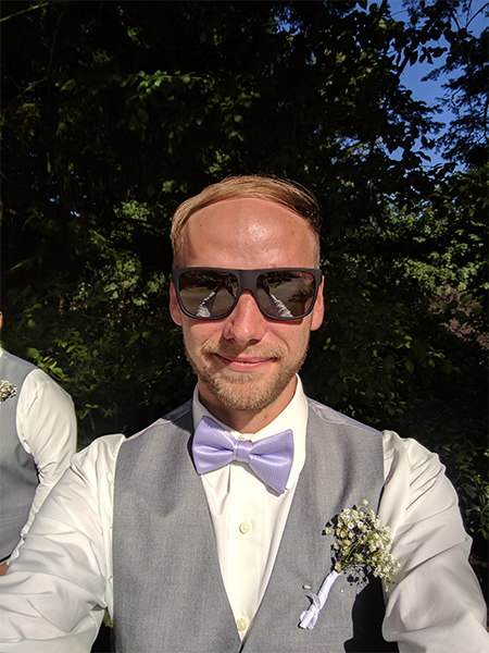 a photo of Scott Demeules at a wedding.