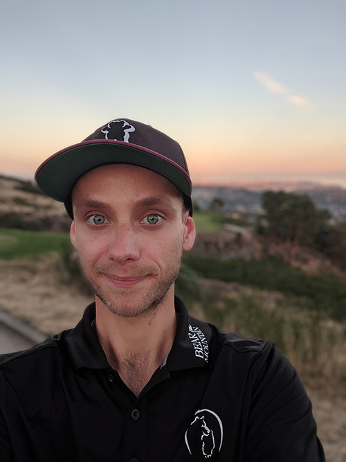 A selfie of Scott Demeules on the golf course at Bear Mountain in Victoria, BC.